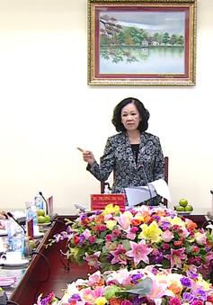 Đồng chí Trương Thị Mai làm việc với Hội Nông dân Việt Nam