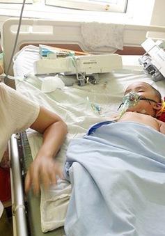 Bé trai 19 tháng tuổi bị ong đốt toàn thân
