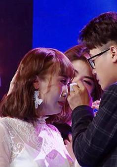 """Thiên Khôi - Quỳnh Như ngậm ngùi nói lời tạm biệt chương trình """"Giai điệu chung đôi"""""""
