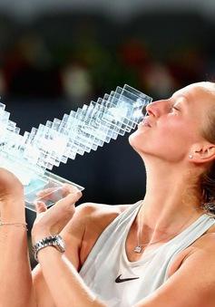 Thắng kịch tính Bertens, Kvitova lên ngôi tại giải quần vợt Madrid mở rộng 2018