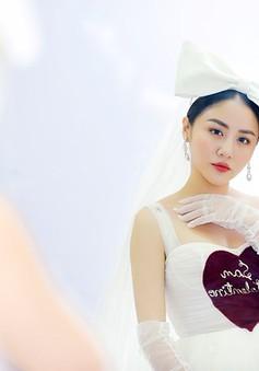 Văn Mai Hương mặc váy cưới, hóa cô dâu xinh đẹp trên truyền hình