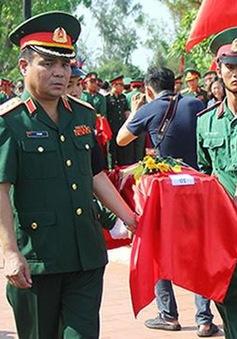 Nghệ An: Tổ chức lễ truy điệu, an táng 98 hài cốt liệt sĩ hy sinh tại Lào