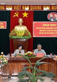Trưởng Ban Dân vận Trung ương làm việc với Tỉnh ủy Kon Tum