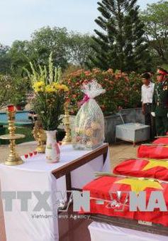 Bình Thuận quy tập và an táng 6 hài cốt liệt sỹ