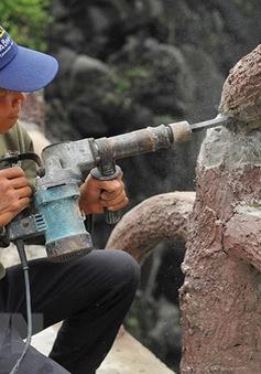 Chậm tiến độ tháo dỡ công trình xây dựng trái phép tại núi Cái Hạ