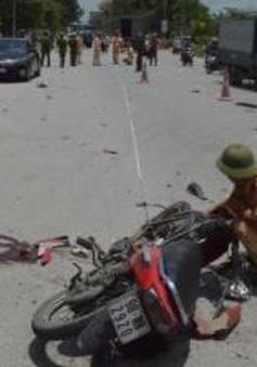 Ô tô tải va chạm với xe máy tại Bắc Ninh, 3 người thương vong