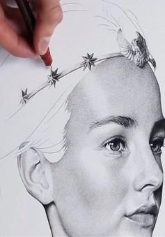 Bức chân dung đầy mê hoặc được tạo ra từ hơn 3 triệu dấu chấm