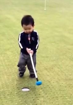 Hình ảnh thú vị của tay golf 3 tuổi