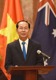 Chủ tịch nước chủ trì tiệc chiêu đãi trọng thể Toàn quyền Australia và phu nhân