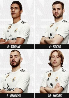 """C.Ronaldo """"mất tích"""" trong chiến dịch quảng bá áo đấu của Real Madrid"""