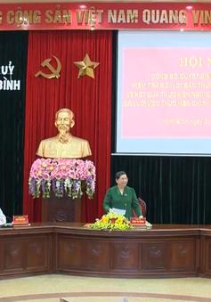 PCT Thường trực Quốc hội Tòng Thị Phóng công bố Quyết định kiểm tra tại Ninh Bình