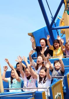 Liên hoan thiếu nhi quốc tế VTV: Các bạn nhỏ vui chơi thỏa thích ở Vinpearl Land Nha Trang