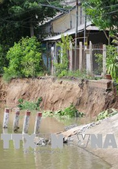 An Giang di dời khẩn cấp 19 hộ dân trong khu vực sạt lở