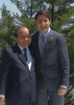 Thủ tướng đề xuất nhiều sáng kiến tại Hội nghị G7 mở rộng