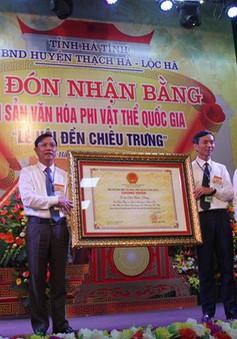 Hà Tĩnh: Đón nhận bằng di sản văn hóa phi vật thể quốc gia Lễ hội Đền Chiêu Trưng