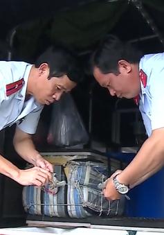 Bạc Liêu phát hiện xe chở 150kg tôm bơm tạp chất