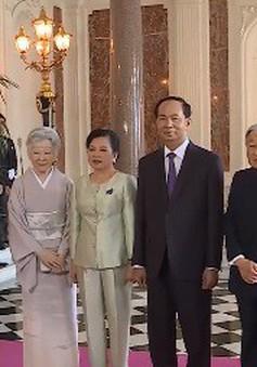 Nhà vua và Hoàng hậu Nhật Bản chào từ biệt Chủ tịch nước Trần Đại Quang và Phu nhân