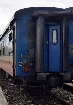 Kịp thời xử lý sự cố cháy tàu khách tại ga Hảo Sơn, Phú Yên