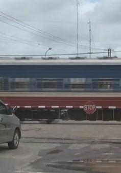 Đường sắt lắp camera giám sát tại các đường ngang
