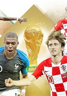Chung kết FIFA World Cup™ 2018, Pháp - Croatia: Giấc mộng bá vương sau 20 năm (22h00 hôm nay, trực tiếp trên VTV2 và VTV6)
