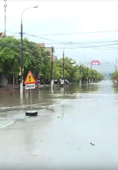 Mưa lớn gây ngập lụt cục bộ tại TP Hà Tĩnh