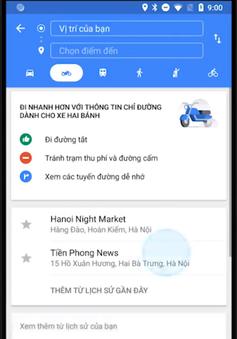 Cuối cùng thì Google Maps cũng có chế độ chỉ đường cho xe máy tại Việt Nam, chỉ được cả đường tắt