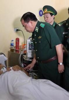 Thăng quân hàm cho chiến sỹ biên phòng bị thương khi truy bắt tội phạm ma tuý