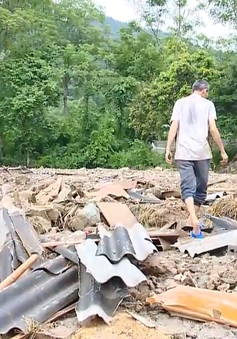 Yên Bái có mưa trở lại, việc khắc phục hậu quả mưa lũ gặp nhiều khó khăn