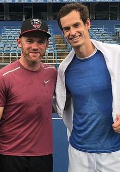 Wayne Rooney tranh tài đánh tennis với Andy Murray
