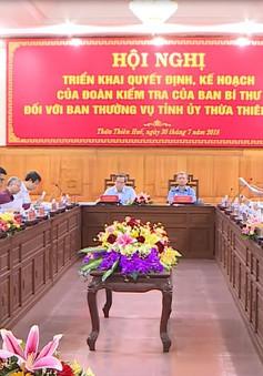 Trưởng Ban kinh tế Trung ương làm việc với Ban thường vụ Tỉnh ủy Thừa Thiên Huế
