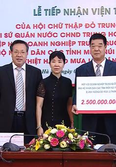 Hội Chữ thập đỏ Trung Quốc ủng hộ người dân vùng lũ gần 4 tỷ đồng