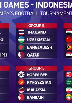 Bốc thăm chia bảng ASIAD 2018: Olympic Việt Nam cùng bảng Olympic Nhật Bản