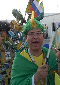 Phóng viên Thể Thao VTV tác nghiệp tại Nga: Dàn nhạc đặc biệt của CĐV Brazil
