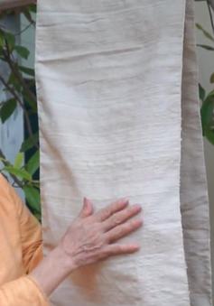 Gặp gỡ nghệ nhân người Việt dệt lụa từ tơ sen