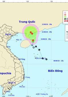 Tâm áp thấp nhiệt đới ở vùng biển phía Đông đảo Hải Nam (Trung Quốc)
