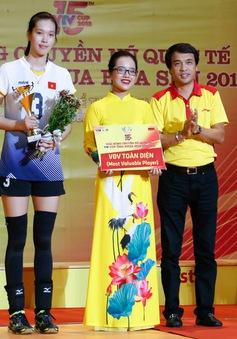 Các danh hiệu cá nhân VTV Cup Ống nhựa Hoa Sen 2018: Trần Thị Thanh Thuý toàn diện nhất, Đặng Thị Kim Thanh đoạt danh hiệu Hoa khôi