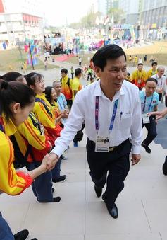 ẢNH: Bộ trưởng Bộ VHTT&DL Nguyễn Ngọc Thiện tới thăm các VĐV dự ASIAD 2018