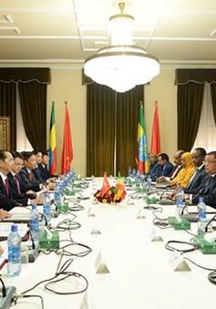Chủ tịch nước Trần Ðại Quang hội đàm với Tổng thống Ethiopia