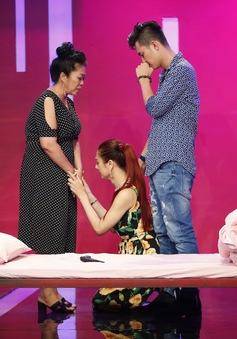 Học viện mẹ chồng: Khánh Chi quỳ gối xin mẹ chồng để giải quyết thử thách