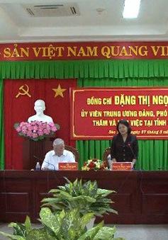 Phó Chủ tịch nước Đặng Thị Ngọc Thịnh làm việc tại Bạc Liêu và Sóc Trăng