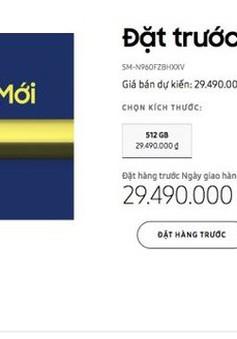Samsung Việt Nam để lộ giá bán của Galaxy Note9 ngay trên trang chủ