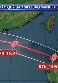 Trưa 15/9, siêu bão Mangkhut sẽ vào Biển Đông