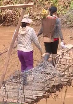 Nhiều cầu treo dân sinh tại Kon Tum xuống cấp nghiêm trọng