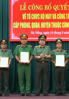 Công an TP. Đà Nẵng công bố các quyết định về tổ chức bộ máy và công tác cán bộ