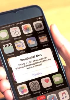 Mỹ kiểm tra hệ thống nhắn tin cảnh báo trên toàn quốc