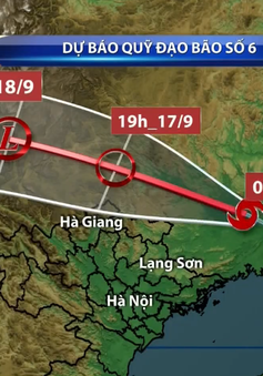 Bão số 6 suy yếu thành áp thấp nhiệt đới, gây mưa to ở Bắc Bộ