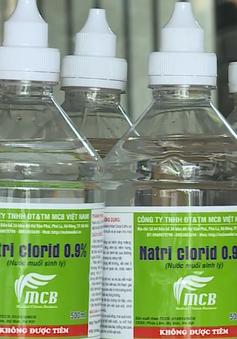 """Cơ sở sản xuất nước muối sinh lý hoạt động """"chui"""": Chính quyền địa phương làm ngơ?"""