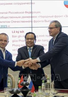 Việt Nam - Nga thúc đẩy hợp tác các tổ chức nhân dân
