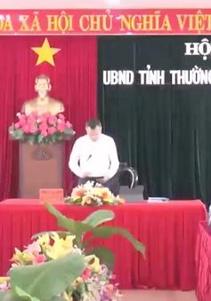 UBND tỉnh Phú Yên họp thường kỳ tháng 8: Lên phương án hạn chế thiệt hại do thiên tai