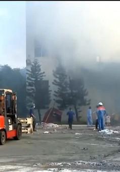 Cháy lớn tại nhà máy giấy Sài Gòn ở Vũng Tàu